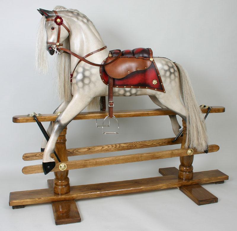 Old Fashioned Wood Rocking Horse